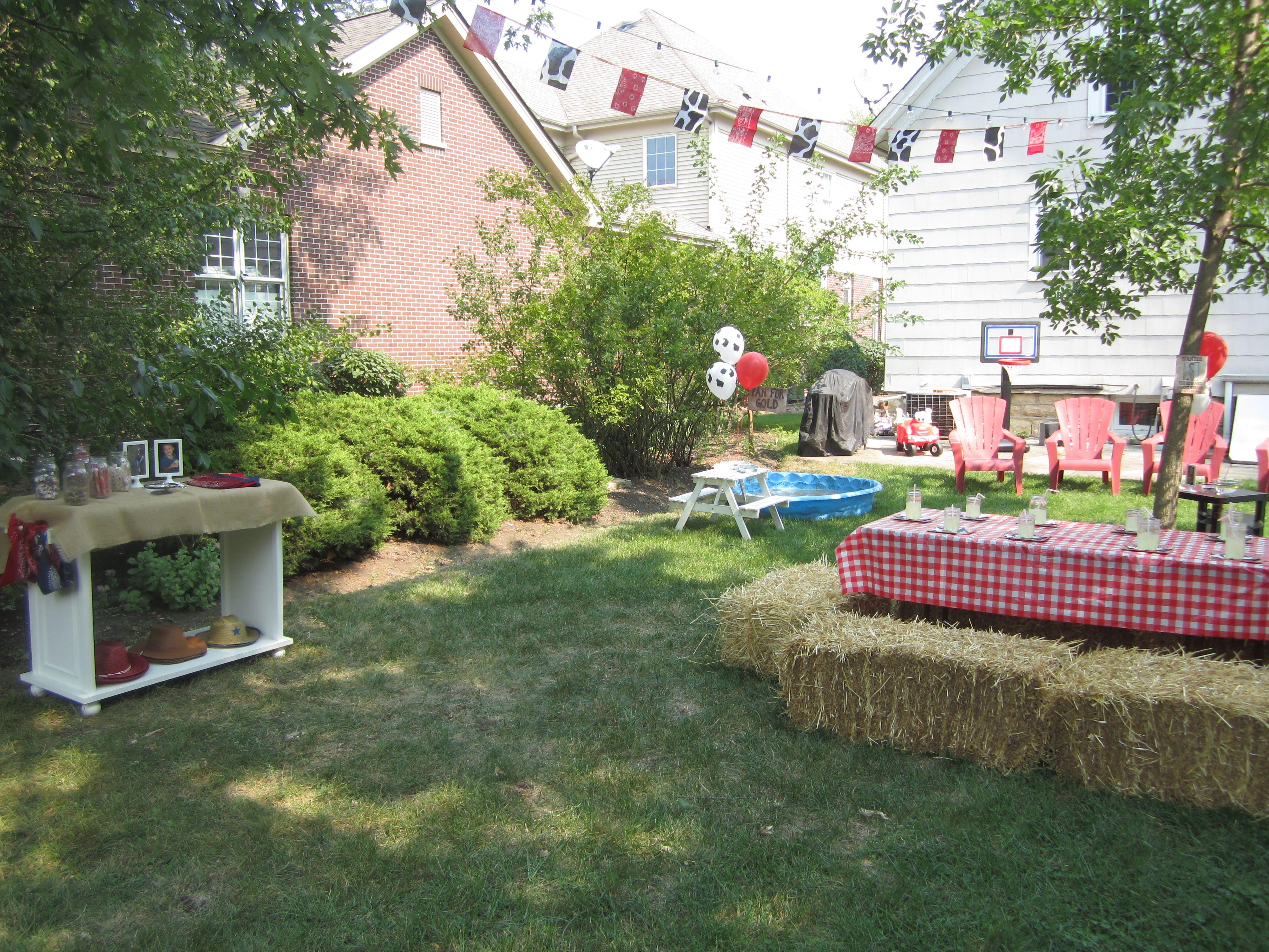 wild west backyard birthday party wild wild west birthday party