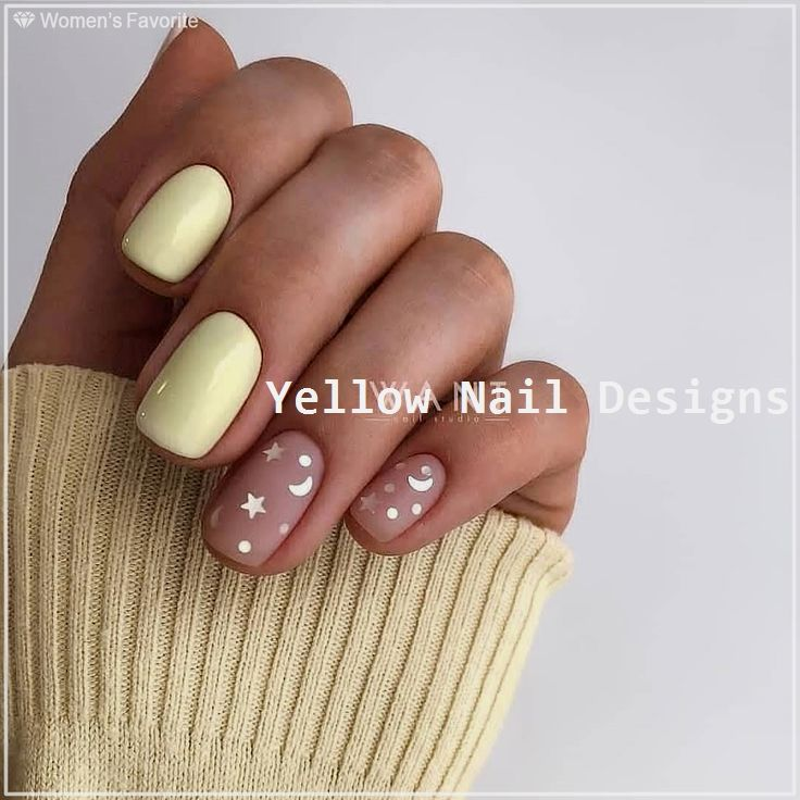 23 Great Yellow Nail Art Designs 2019 nailideas in 2019