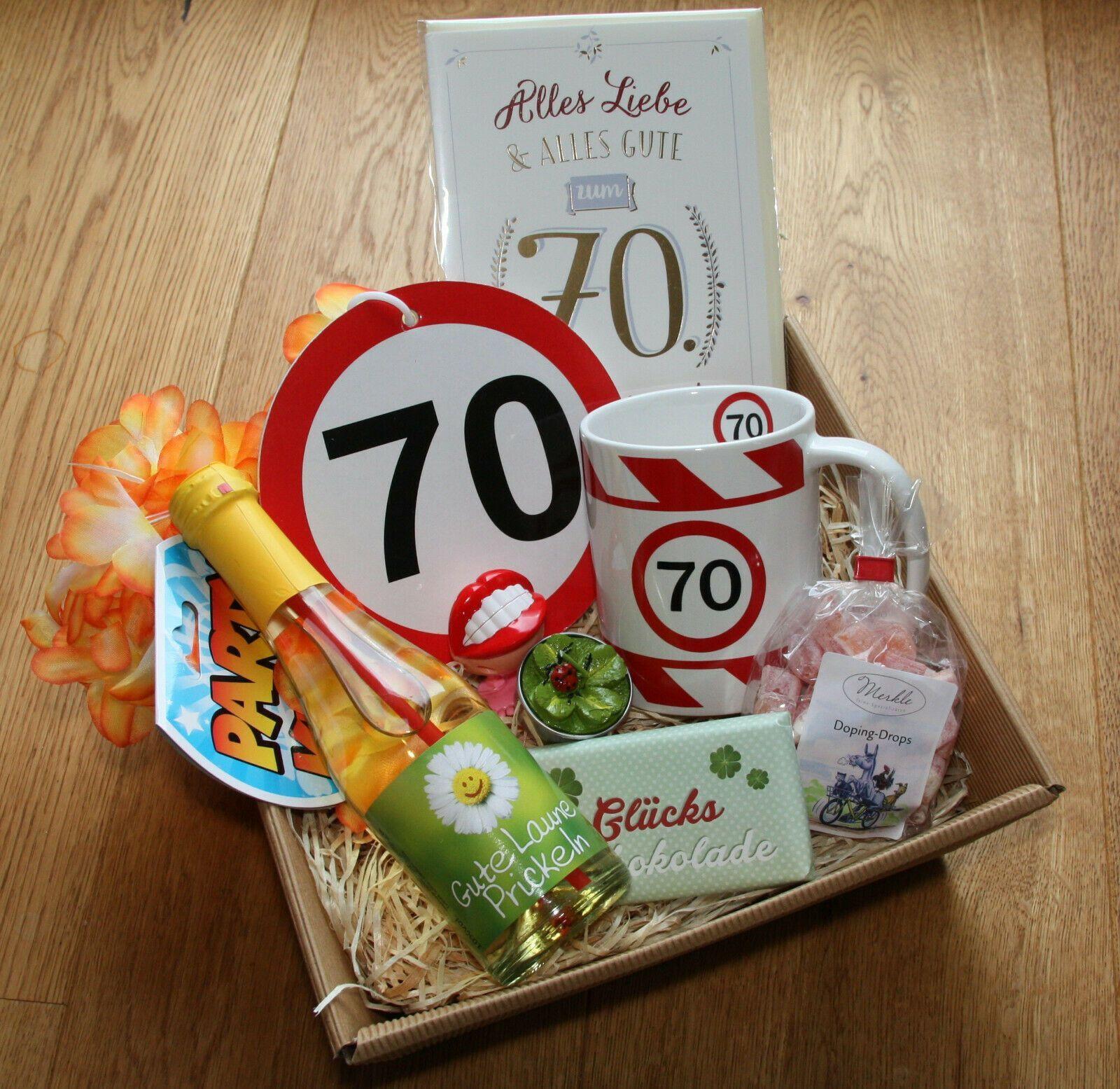 70 Geburtstagsgeschenk Geschenkkorb Geschenke Ideen 70er