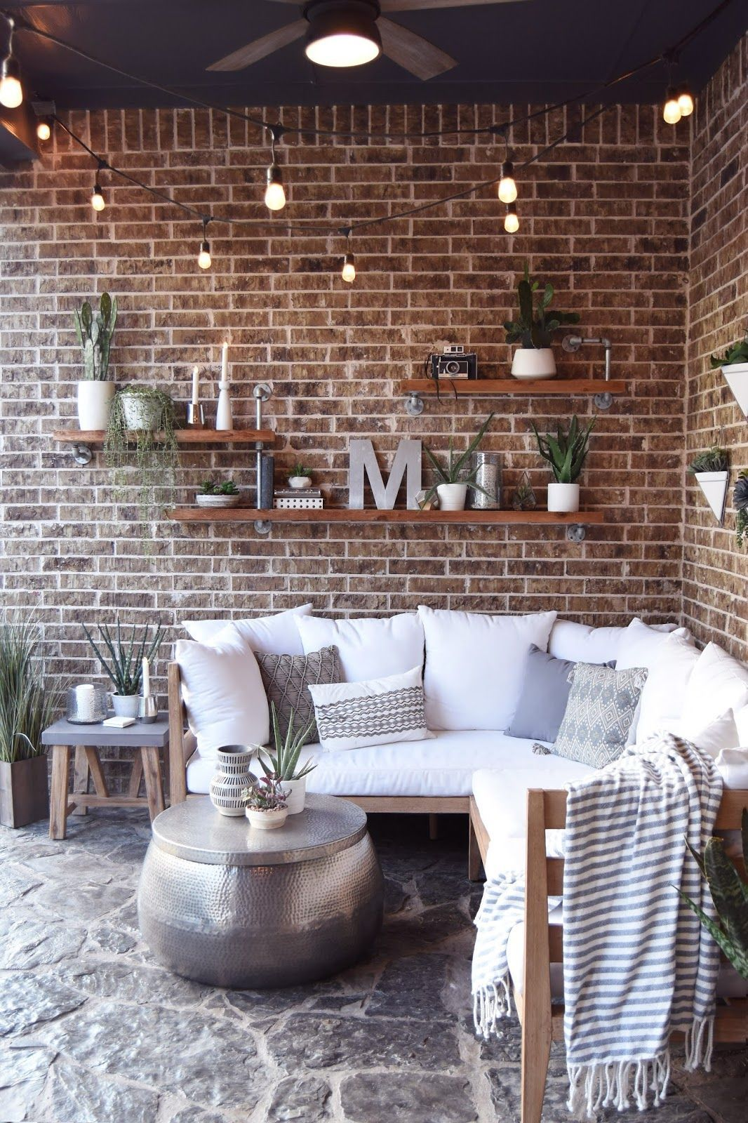 images creative home lighting patiofurn home pillow thought home outdoor living space if you are new coming from egg shell home welcome im so glad youre here at the en creative rustic lighting ideas pinterest shells living