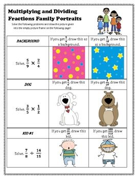 Multiplying Dividing Fraction Fun Activity With Word Problems
