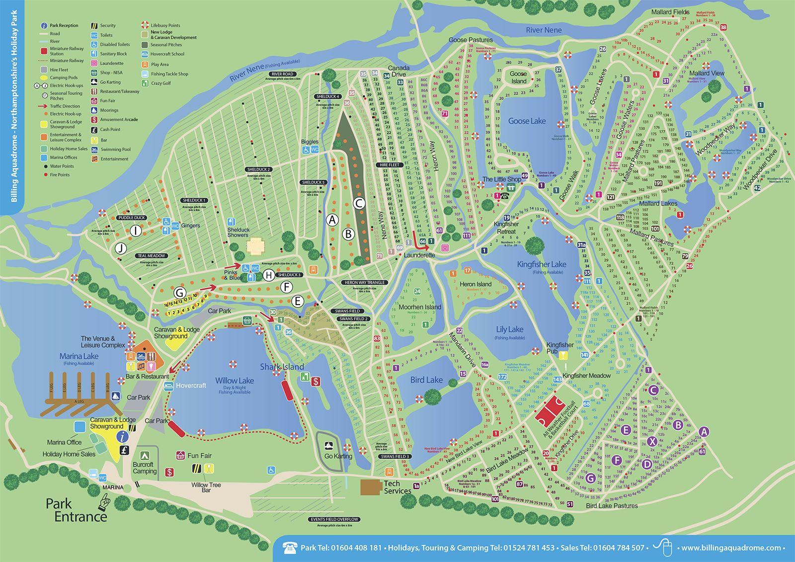 Billing Aquadrome Map Park Map   Billing Aquadrome | Billing Aquadrome | Map, Park