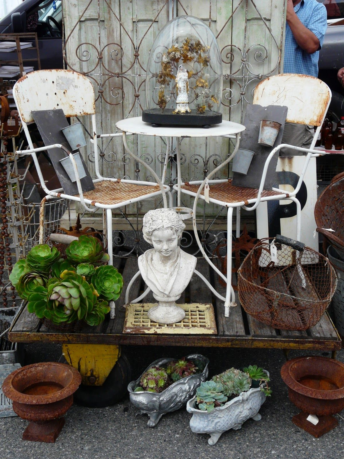 Potted Plants And The Perfect Patio Set Flea Market Booth Finds