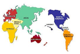 map of world continents - Google Search
