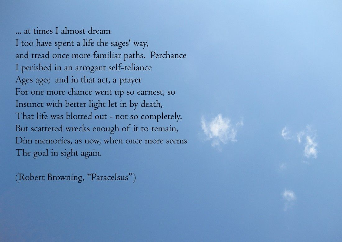 At Times I Almost Dream Paracelsus Robert Browning