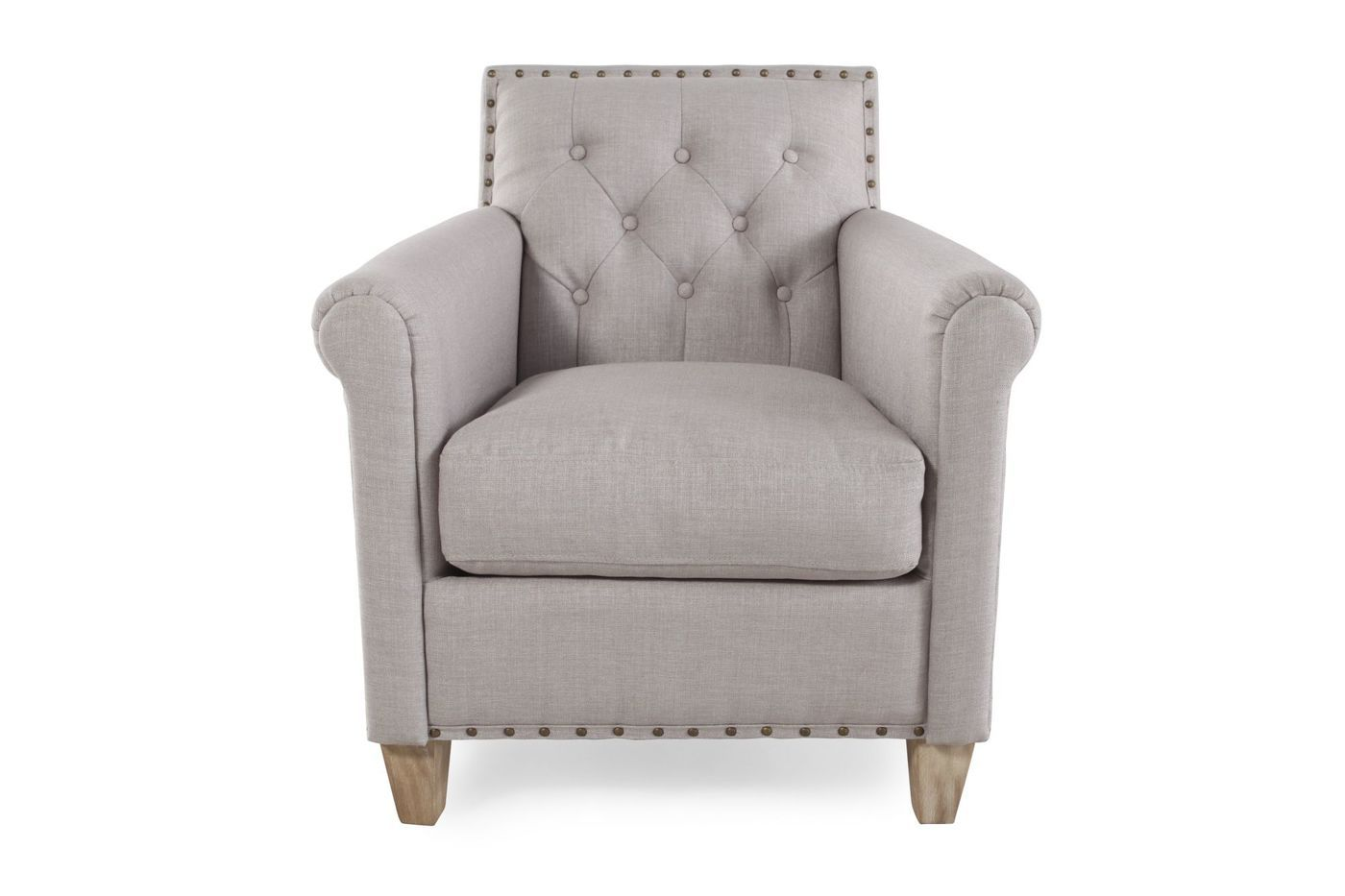 Boulevard Club Chair with Nail Heads | Mathis Brothers Furniture ...