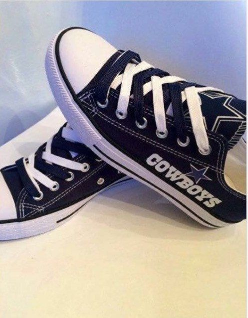 Custom Dallas Cowboys Converse with logo applique by MizMaryMacks ... 46c1a6d1302c