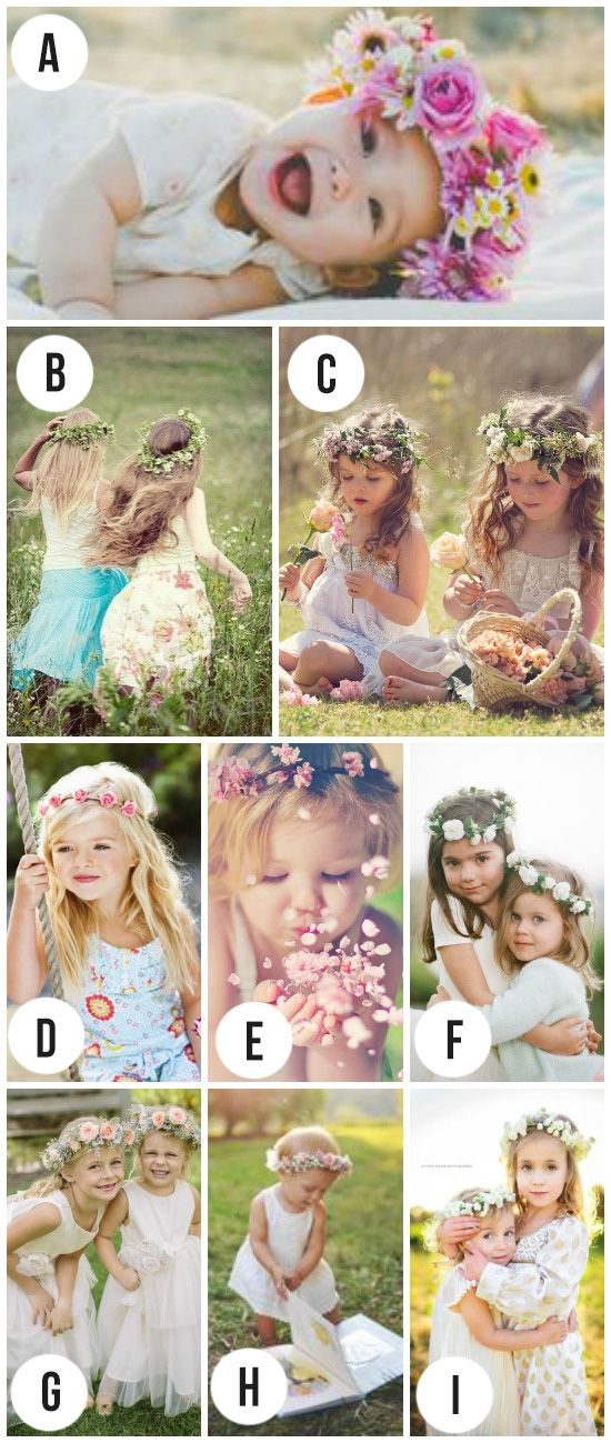 Love These Flower Crowns For Photo Props So Sweet Photography Ideas KidsSpring
