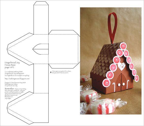 Pdf Doc Free Premium Templates Gingerbread House Template Printable Templates Printable Free Box Templates Printable Free