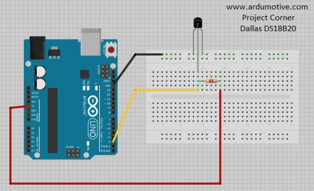 How To Use Ds18b20 Temperature Sensor Arduino Tutorial Met Afbeeldingen