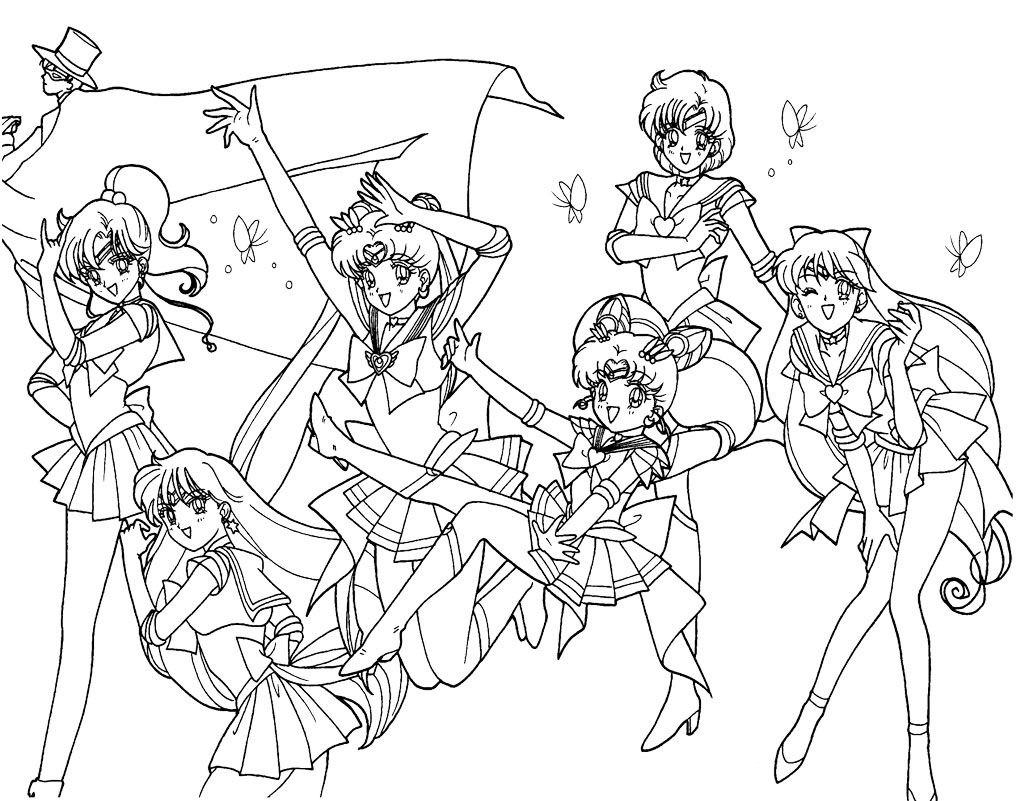 Coloring Page For Kids Sailor Moon Coloring Pages Sailor Moon Coloring Pages