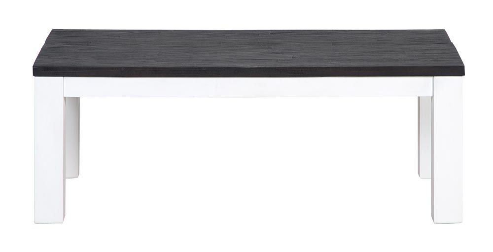 Salontafel Humphrey: stoere houten salontafel in wit/bruin ...