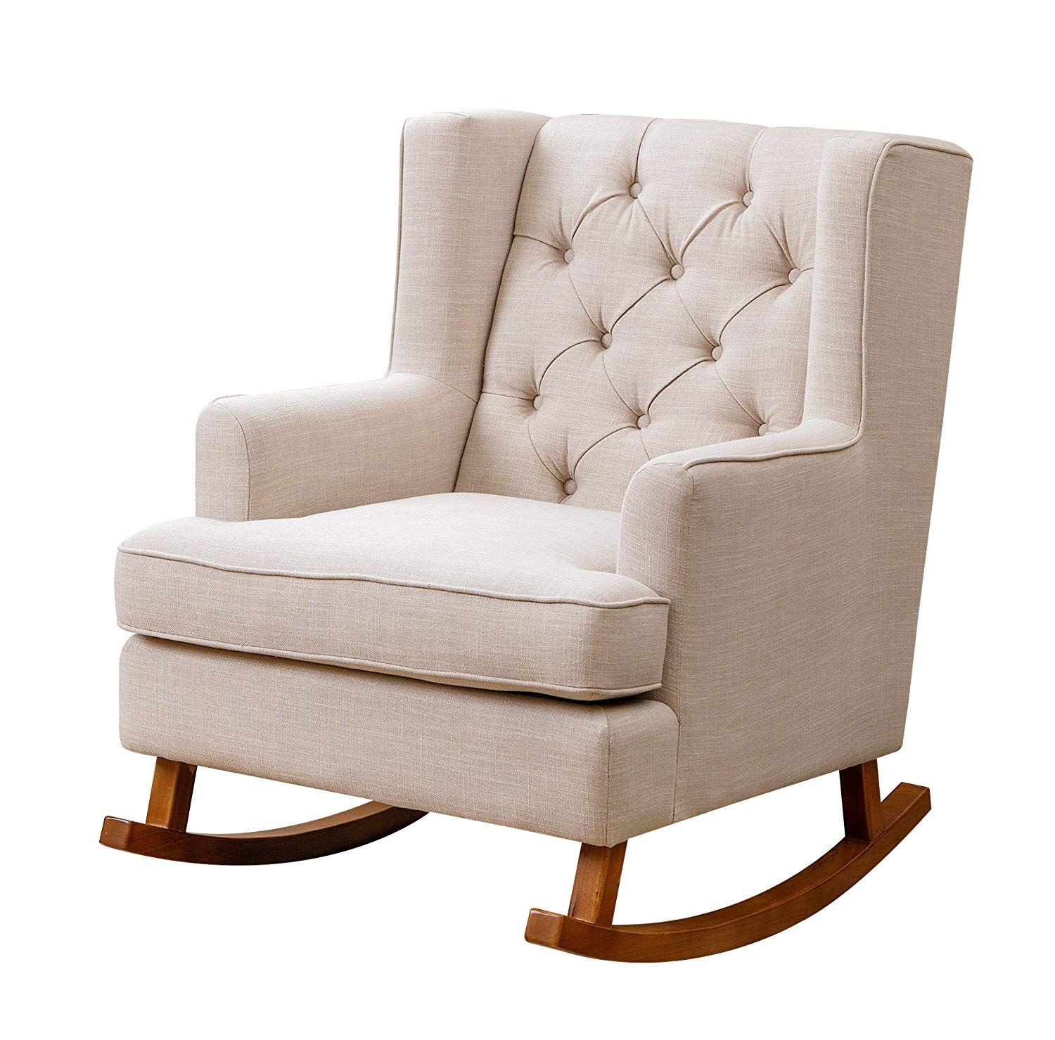 Abbyson Primrose Fabric Rocker, Beige (With images