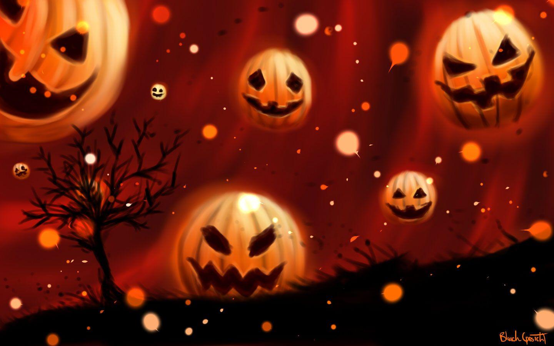 cool pumpkin halloween backgrounds free internet pictures - Halloween Wallpapaer
