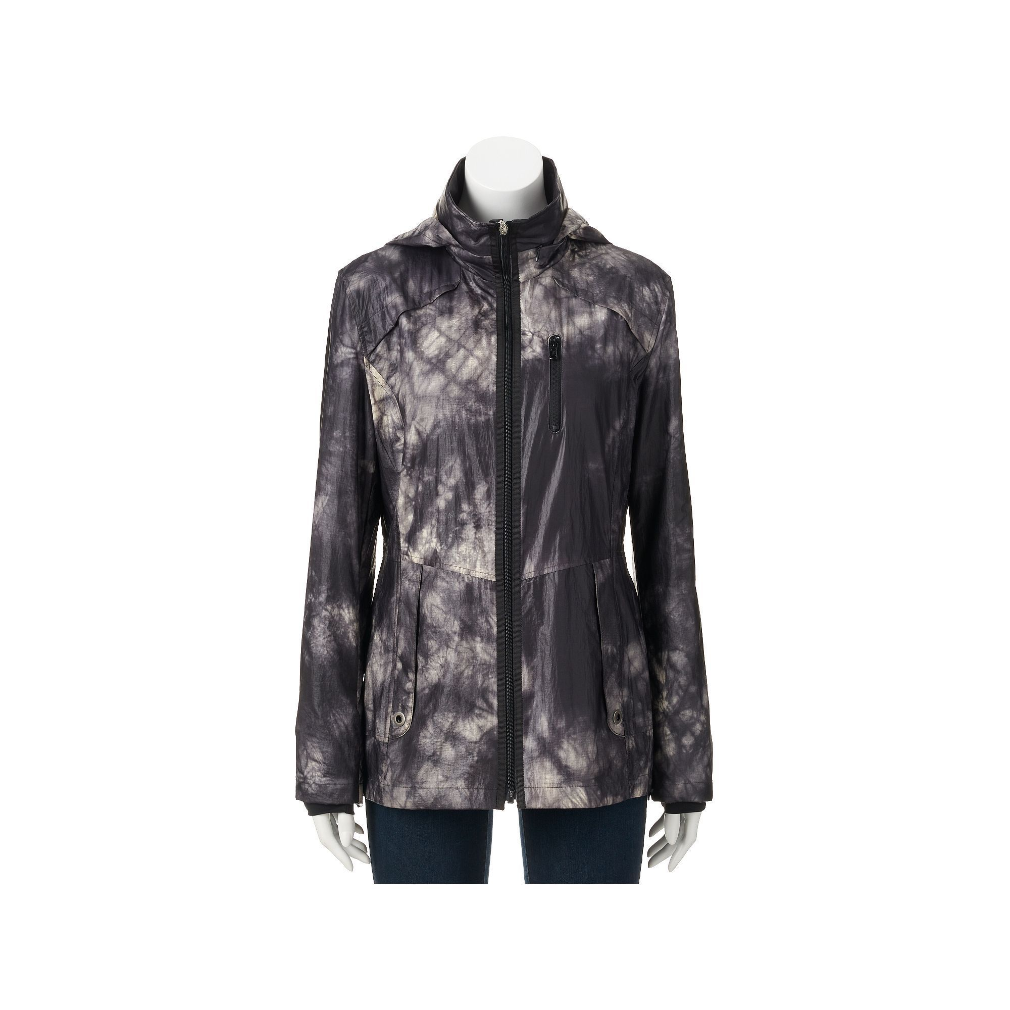 Women's Halifax Tie-Dye Jacket, Size: Medium, Grey (Charcoal)
