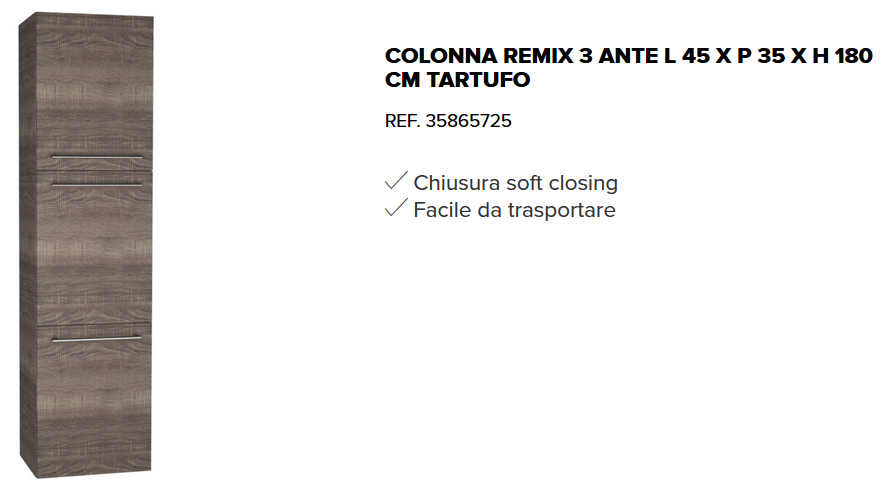 Https Www Leroymerlin It Catalogo Colonna Remix 3 Ante L 45 X P 35
