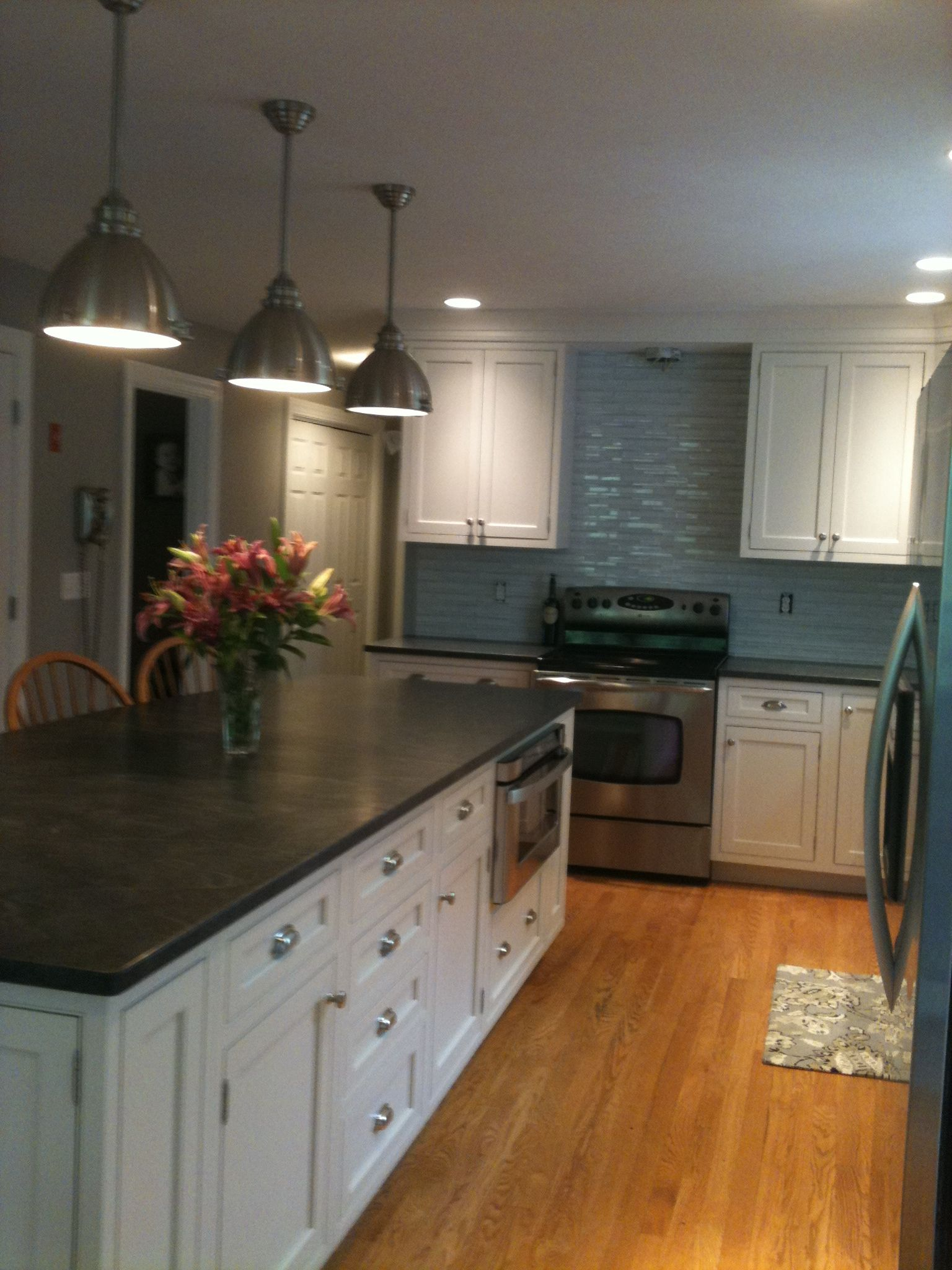 Jet mist honed granite countertop | Gray Kitchen | Pinterest ...