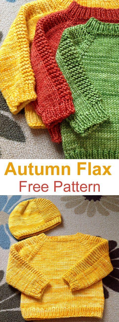Flax Sweater - Free Pattern : Free Knitting Pattern #Flax ...