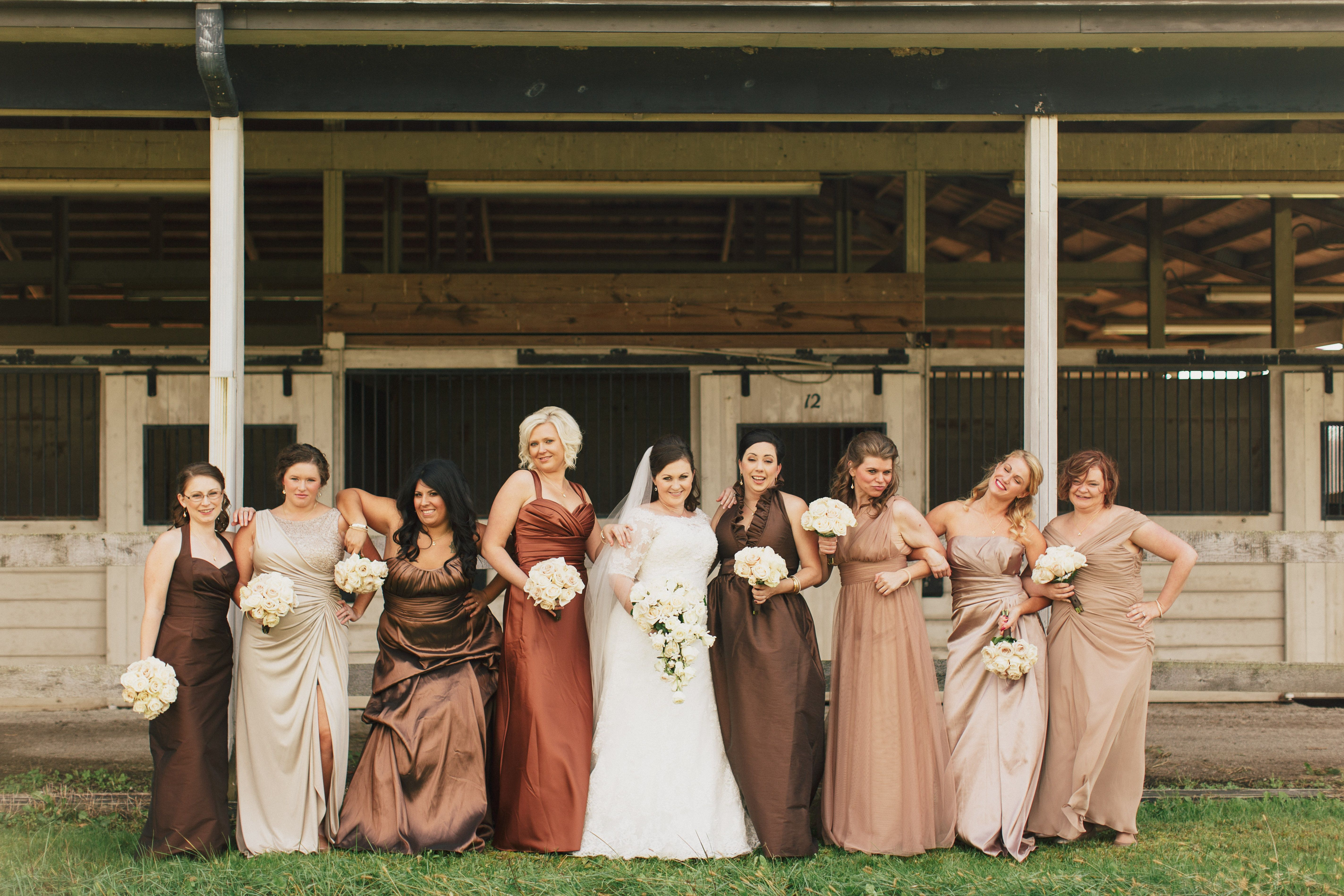 Pin By Kelsey Lawrence On Weddings Ombre Bridesmaid Dresses Brown Bridesmaid Dresses Fall Wedding Bridesmaid Dresses