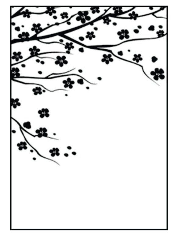 Elegant Embossing folder Flowering Garden by Nellie