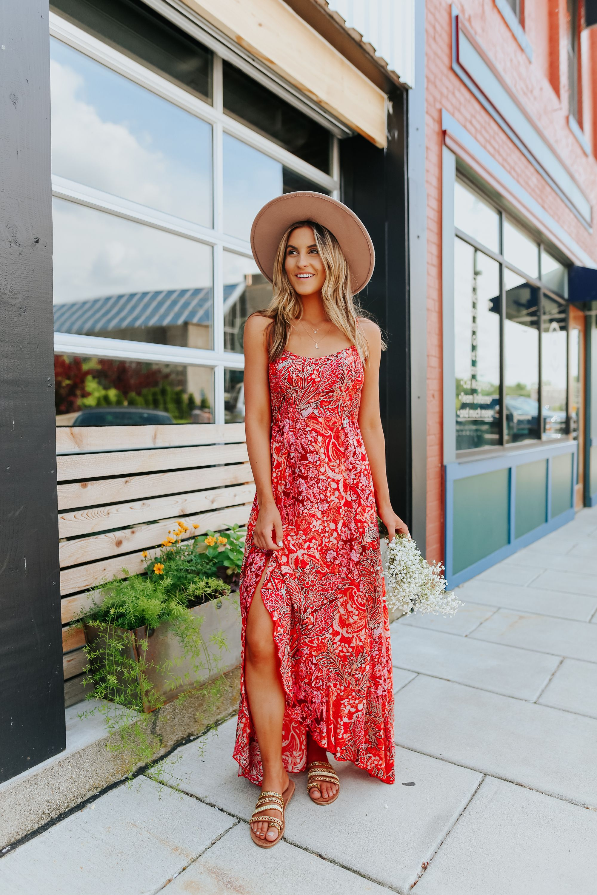 Add This Red Hot Style From Free People To Your Summer Wardrobe This Mixed Floral Print Maxi Slip Dress Features Smocking Maxi Slip Dress Dresses Hot Fashion [ 3000 x 2000 Pixel ]