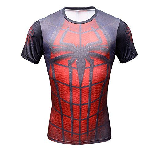 01f4b1474 Superhero Spider Man 3D Sports TShirt Slim Fit Fitness Cycling Jersey  Costume M    Be sure to check out this awesome product.