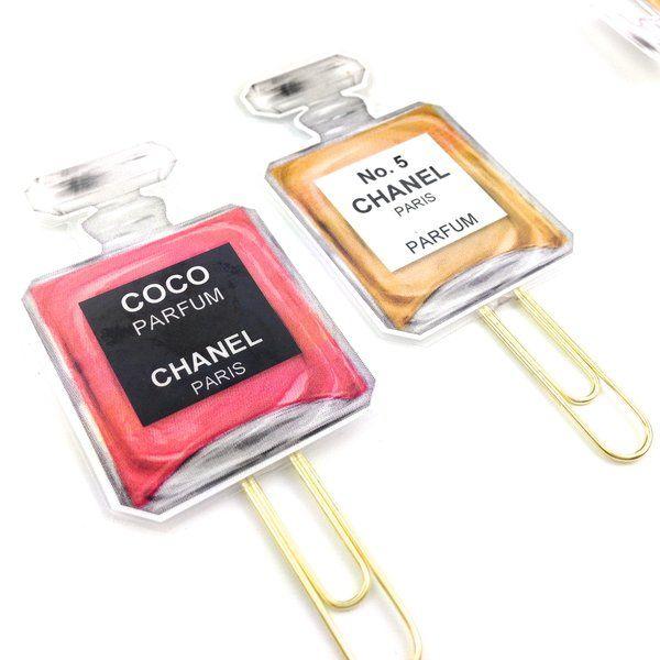 planner paper clip | designer perfume bottle | no.5 novelty paper