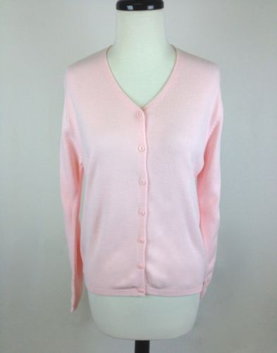 Gap Sweater Cashmere Knit Pink Button Up Luxury Trendy Cardigan ...