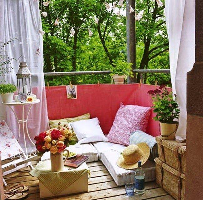 30 ideas para decorar el peque o balc n de tu casa vida - Decorar balcon pequeno ...