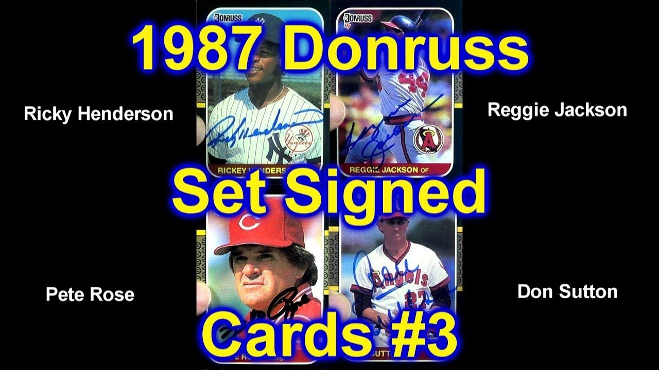 1987 donruss baseball card set signed by the players group