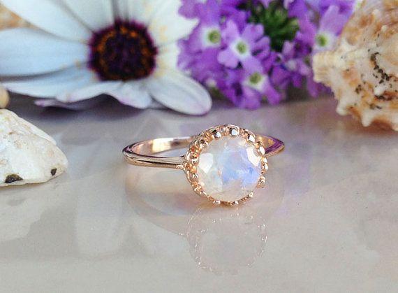 20% off-SALE Rainbow Moonstone Ring  Gemstone by HolyLandJewelry