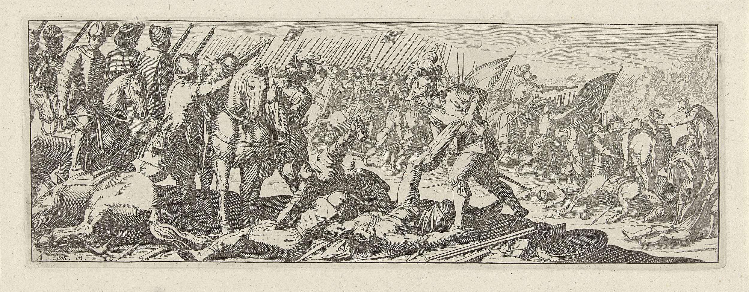 Simon Frisius | Soldaten beroven lijken op het slagveld, Simon Frisius, 1595 - 1628 |
