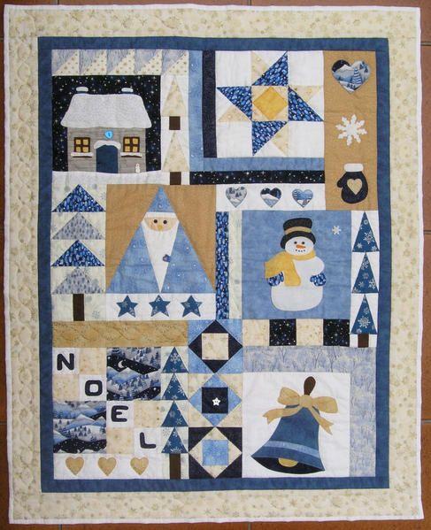 patchwork winter quilts snowman quilt patchwork et winter quilts. Black Bedroom Furniture Sets. Home Design Ideas