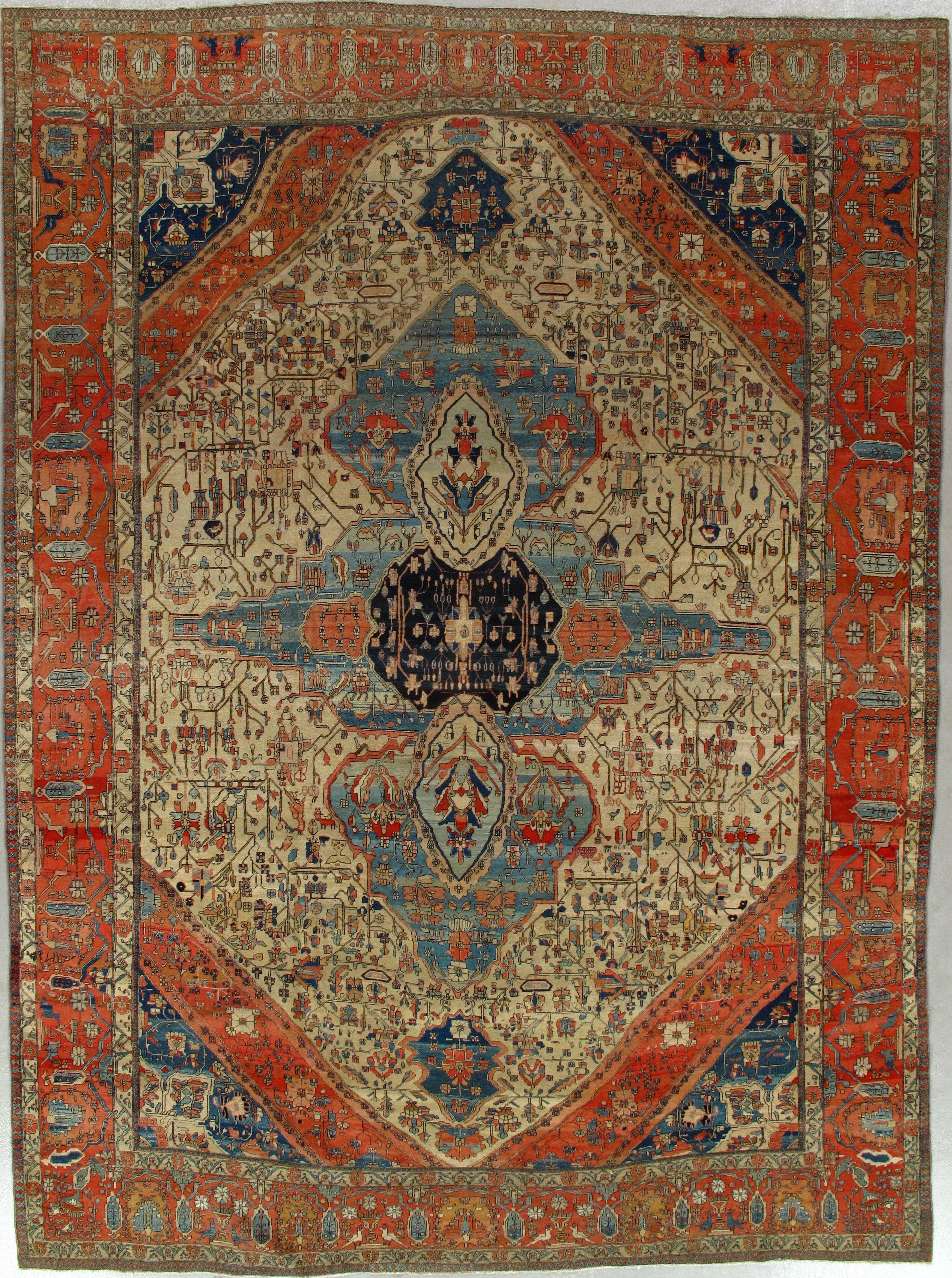 Antique Mohtashan Kashan Rug 280409