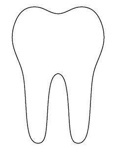 Tooth pattern. Use the printable outline for crafts