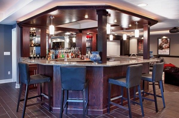Unique Basement Bar Design With Smart Lighting Pinterest Mesmerizing Unique Basement Ideas Plans