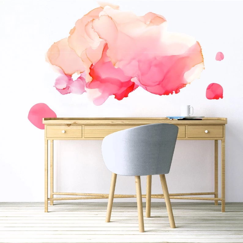 Abstract Alcohol Ink Removable Wall Decal Removable Wall Decals