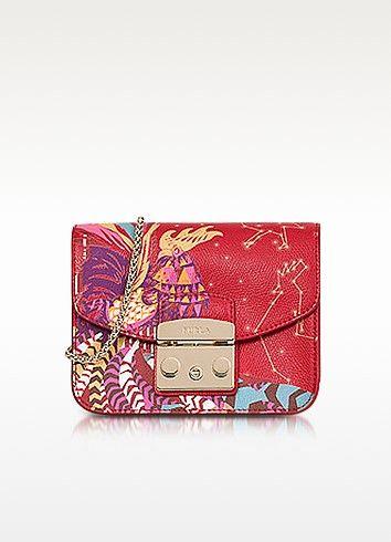 d6e5024ef1f11a Furla Toni Ruby Hongbao Printed Leather Metropolis Mini Crossbody Bag -  FORZIERI