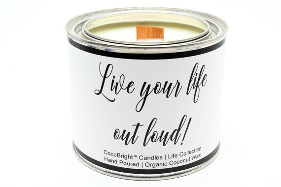 25 hrs Handmade Soy /& Coconut wax candle-vegan Personalised or Quotes