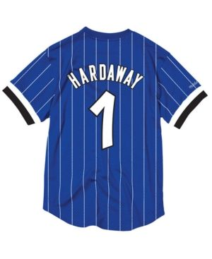 6a2df2ef Mitchell & Ness Men's Penny Hardaway Orlando Magic Name and Number Mesh  Crewneck Jersey - Blue L