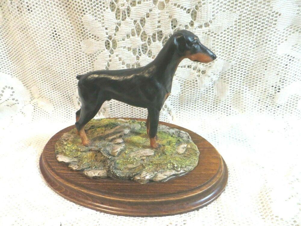 VINTAGE COUNTRY ARTISTS DOBERMAN DOG FIGURINE STATUE