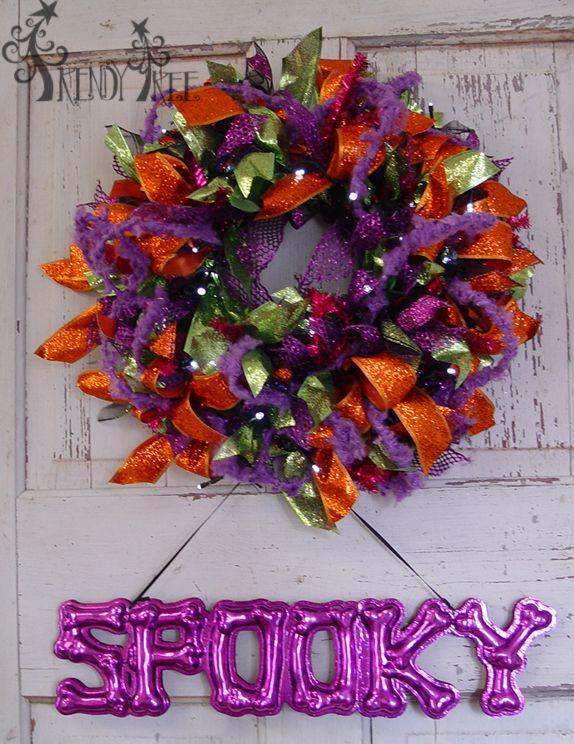 Photo of Halloween Ribbon Wreath Tutorial – Trendy Tree Blog | Holiday Decor Inspiration | Wreath Tutorials | Holiday Decorations | Mesh & ribbons