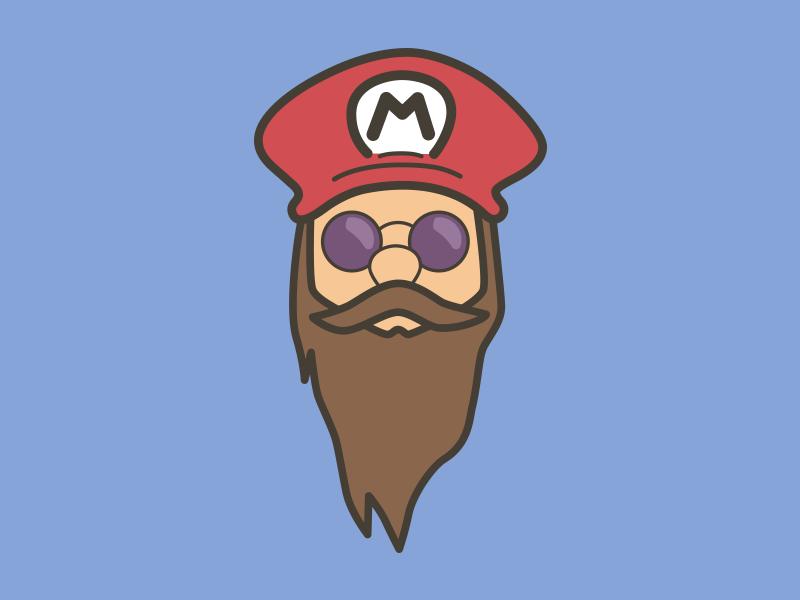 Http Beardedtees Com Products Bearded Mario Mustache Beard Mario