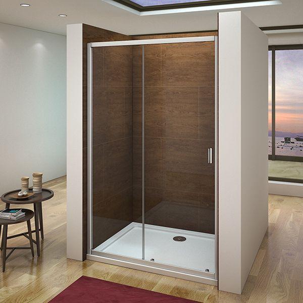 100cm Duschabtrennung Duschwand Dusche Schiebetur Nischentur Ohne
