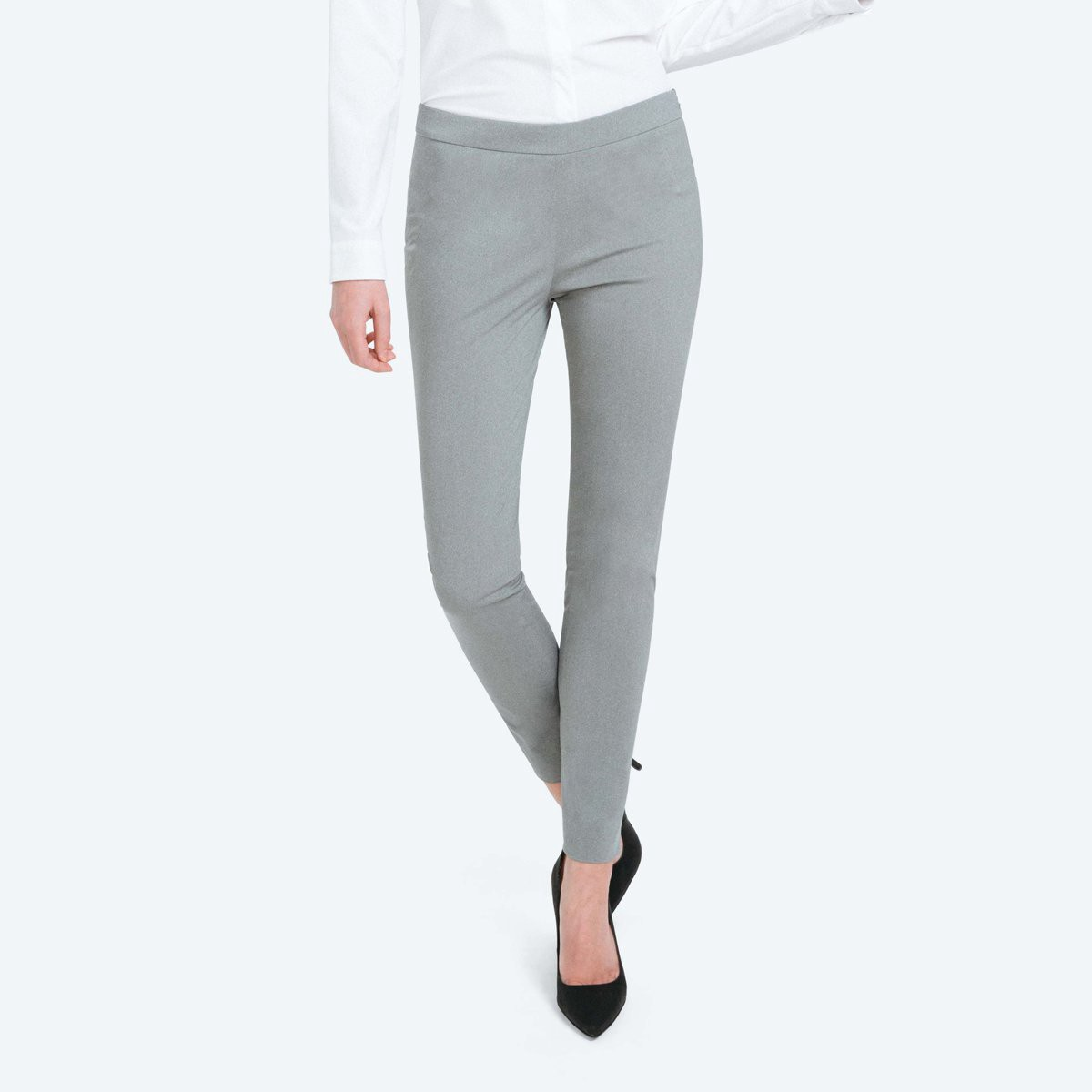 fccea21ef7162c Ministry Of Supply Women's Skinny Kinetic Pants - Grey Heather 12 Gray