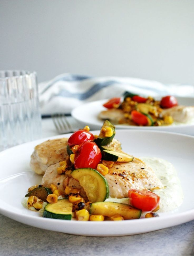 Summer chicken sauté is a healthy, easy chicken dinner recip images