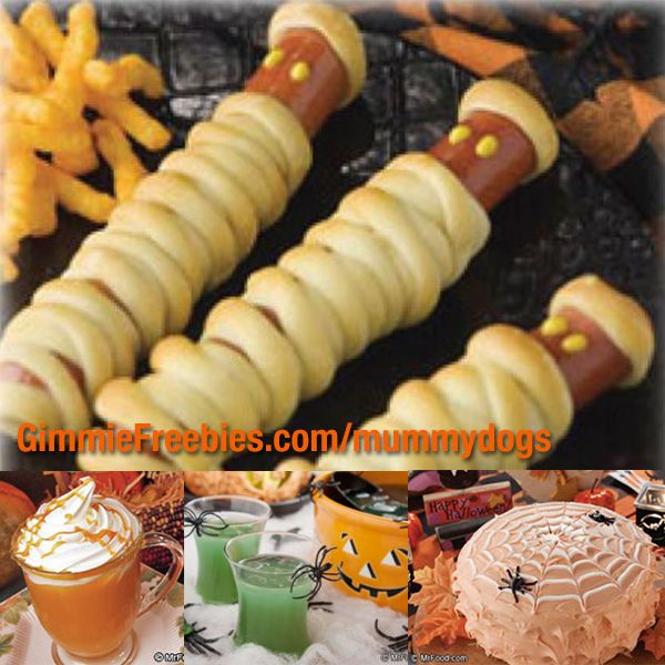 Free Halloween Recipes!      Halloween Drink Recipes: Spiderlicious Punch, Very Bloody Mary, and Hot Caramel Apple Cider (pictured, top)     Halloween Appetizers: Ghoulish Glazed Meatballs, Bloody Witches Fingers, and Graveyard Guacamole     Halloween Party Food Recipes: Spooky Shepard's Pie, Jack O' Lantern Chili, and Spaghetti Brains and Eyeballs     Halloween Treats: Pumpkin Patch Cheesecake, Spooktacular Cupcakes, and Trick-or-Treat Bars Click here ~> http://wp.me/p4D2cZ-vki