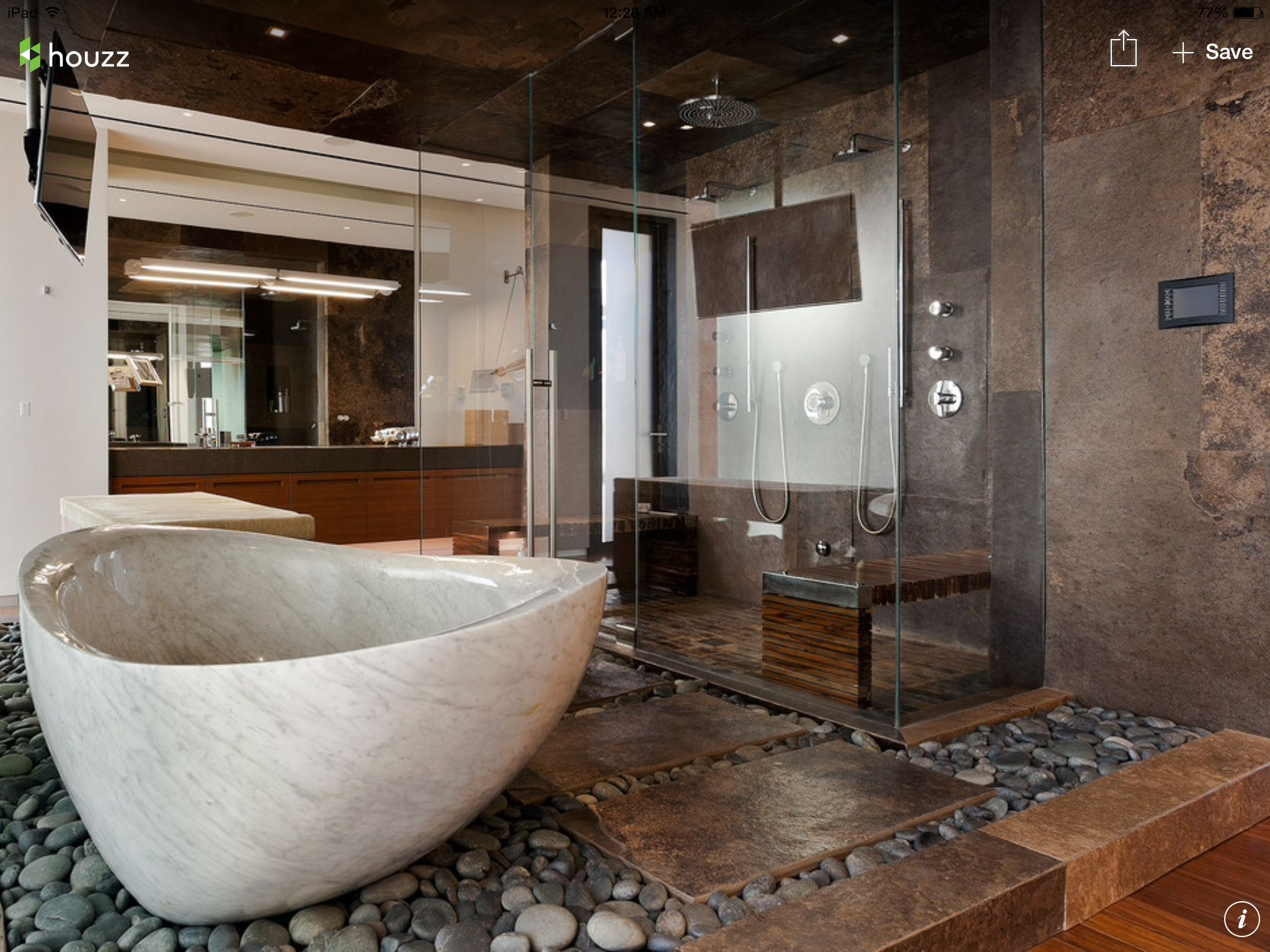 Spa like master bathroom Rock & Marble bathtubs