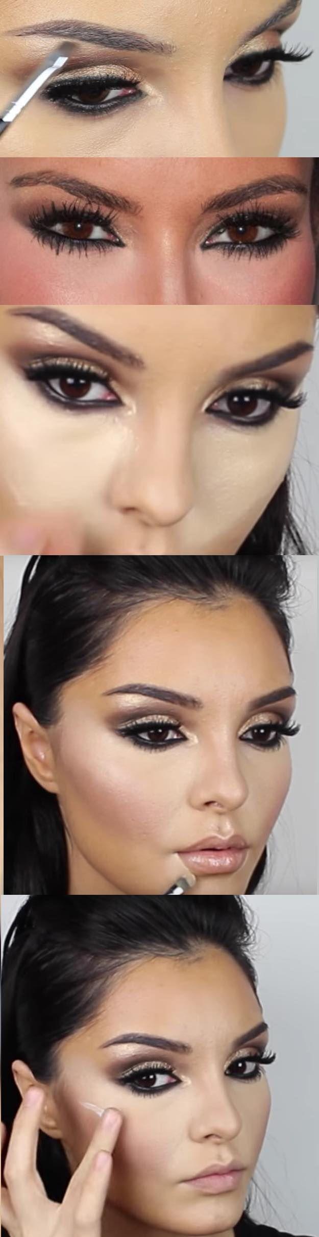 31 Makeup Tutorials for Brown Eyes - Kim Kardashian Makeup Tutorial