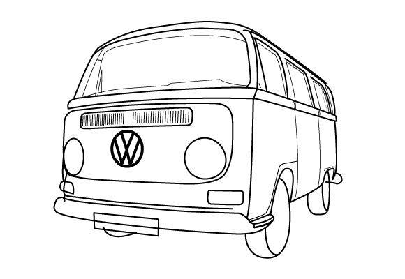 Van 9 Transportation Printable Coloring Pages Coloring